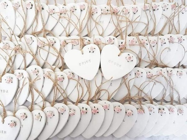 Clay heart favours