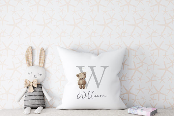 Teddy alphabet cushion2jpg scaled