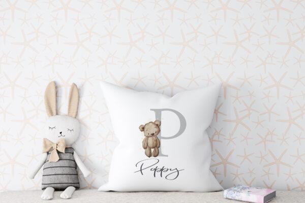 Teddy alphabet cushion3jpg scaled