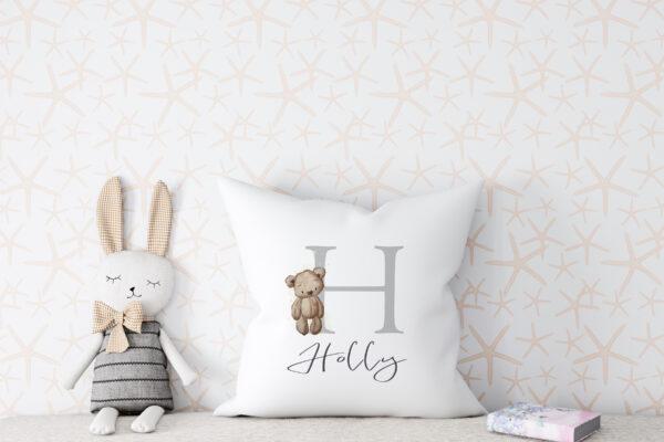 Teddy alphabet cushion4jpg scaled