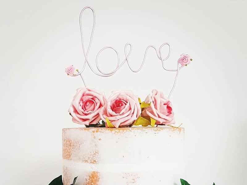 about page cake topper